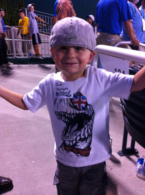 Royals fan, Jack M. attended his first event at Kauffman Stadium on Monday night which also happened to be the State Farm Home Run Derby!
