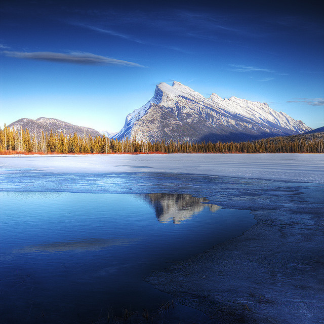 Mt Rundle by mikev1 on Flickr.