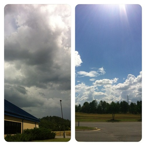 To my left and to my right… ooooh a storms a comin!! #clouds #blue #gray #storm (Taken with Instagram)