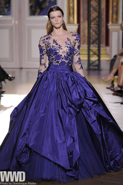 womensweardaily:  Zuhair Murad Fall Couture 2012 Zuhair Murad is on a roll. Fresh from designing tour outfits for Jennifer Lopez, the Lebanese designer is also making inroads on the red carpet, dressing celebrities like Blake Lively.  For More