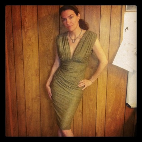 My favorite Laura Byrnes piece for Fall. Gold lurex. Big 40's shoulders <3 Coming Fall 2012 to PinupGirlClothing.com #laurabyrnes #pinupgirlclothing #pinup (Taken with Instagram)