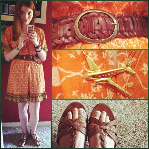 10 july 2012. dress | macy's. belt | urban outfitters. necklace | erica weiner. shoes | steve madden.