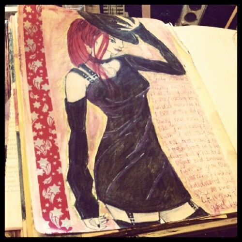 #Sassy #Goth #fashion #illustration #artjournal  (Taken with Instagram)