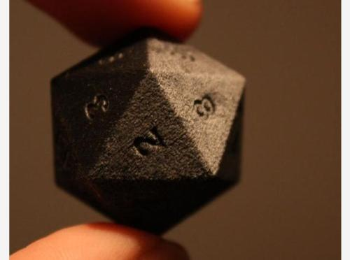 printeresting:  3D Printed in Steel, 20-Sided Dice by BeepBeep3D on Shapeways