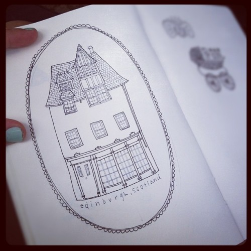 Forever drawing houses from Scotland. @shelbybriley  (Taken with Instagram)