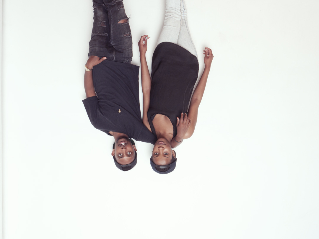 Me and Mandissa upside down in my studio last night