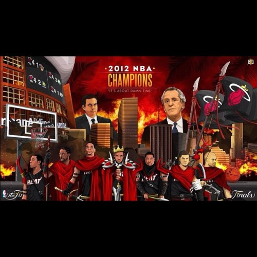 Great illustration by jellodesign.com! #miamiheat #donthatemiami #heatmob #heatnation #nba #art #primeshots #teamusa #teambosh #teamheat #teamwade #teamlabron #chalmers #mvp #nbafinals #nbaplayoffs #espn @kingjames330 @dwyanewade @mrsadriennebosh @mchalmers15 @miami_heat_fanatic @miamiheat @real7figurez @heatprincess305 #instagood #instaheat #instaheatco @instaheat_co @danizunzun @meesowcorny @juicybunny @einorgana @raquel1129  (Taken with Instagram)