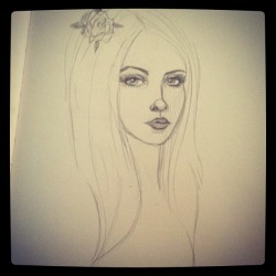 New drawing… Taken with Instagram