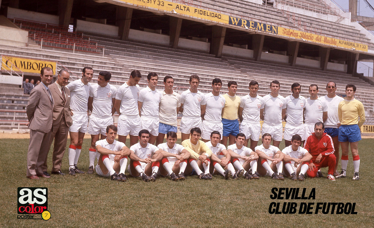 Sevilla CF, 1970/71.Source: AS