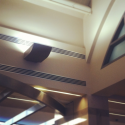 A shot of John Wayne Airport's art deco style. You should look up once in a while when you're there.