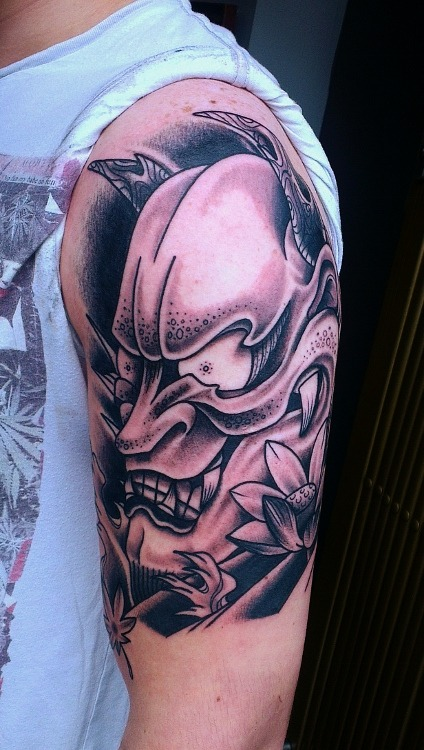 Todays work… Start of a sleeve.