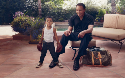mymindin:  Muhammad Ali and his grandson. A photoshoot for Louis Vuitton 2012
