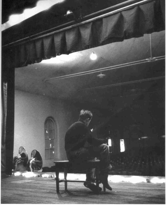 James Dean visiting his old high school stage