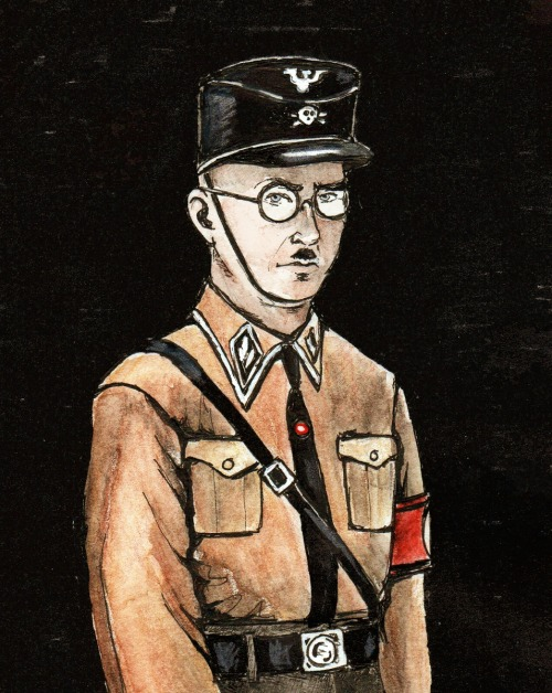 helga-hitzinger:  young Himmler the brown shirt  Great artwork :D