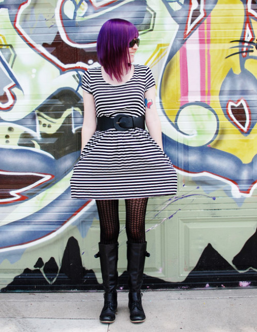 Purple Hair and Stripes! Click to see more pictures.