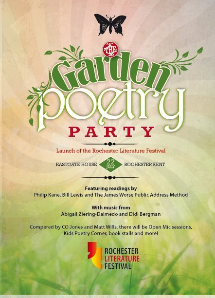 we'll be tabling at the rochester literature festival's garden poetry party on sunday 22nd july, at eastgate house gardens, 12pm - 4pm. more info here / facebook event
