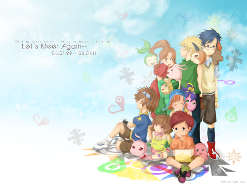Digimon 12th Anniversary by Kanmuri-san