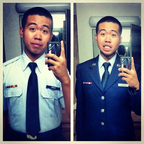 Open ranks. #ootd #military #airforce #uotd #blues (Taken with Instagram)