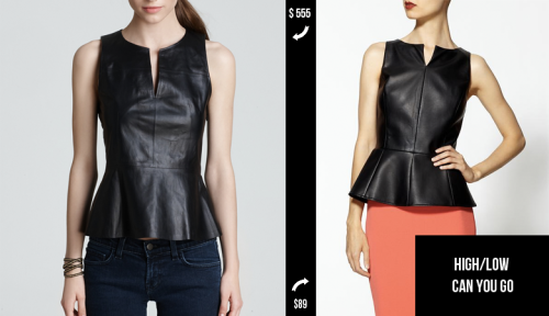 1.  THEORY Leather Peplum Top // 2.  TINLEY ROAD (Faux) Leather Peplum Top