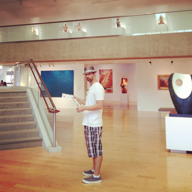 At the Palm Springs Art Museum… (Taken with Instagram)
