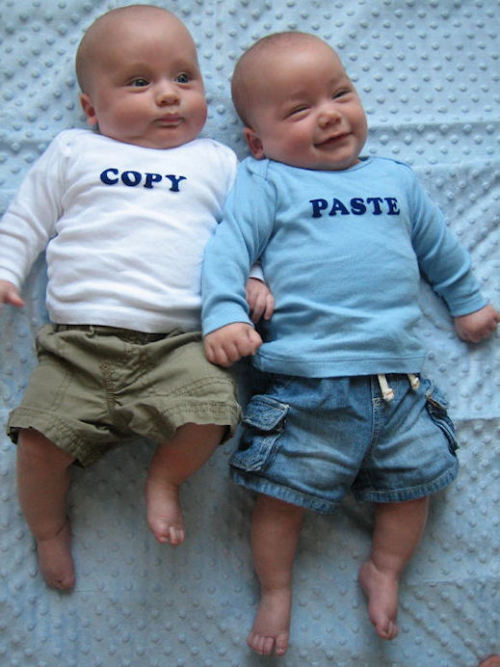 Love these twins — cute!