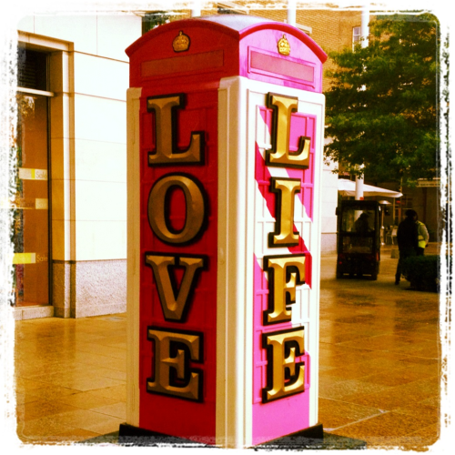 London, Kings Road, 2012, Love, Life, Phonebox, typography, 3D, Art