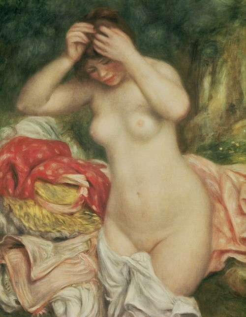 Bather Arranging her Hair, Pierre Auguste Renoir