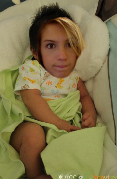 my co-worker photoshopped me into a baby that google image search said looked like me.