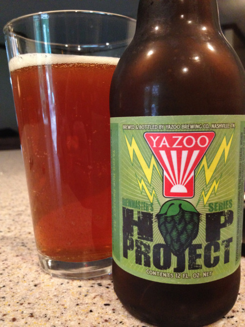 Yazoo - Hop Project(batch#65)  Yazoo keeps the malt profile  the same on this beer but every batch is hopped differently. This batch is super fruity and 100% delicious.