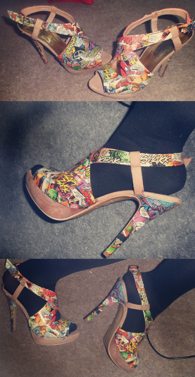 My custom made comic book heels!