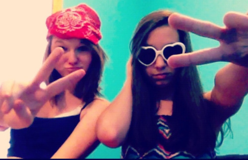 Samantha and I are thugs for lyfe