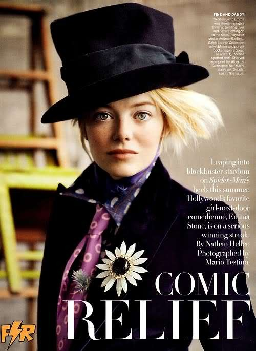 Emma Stone, July Vogue.