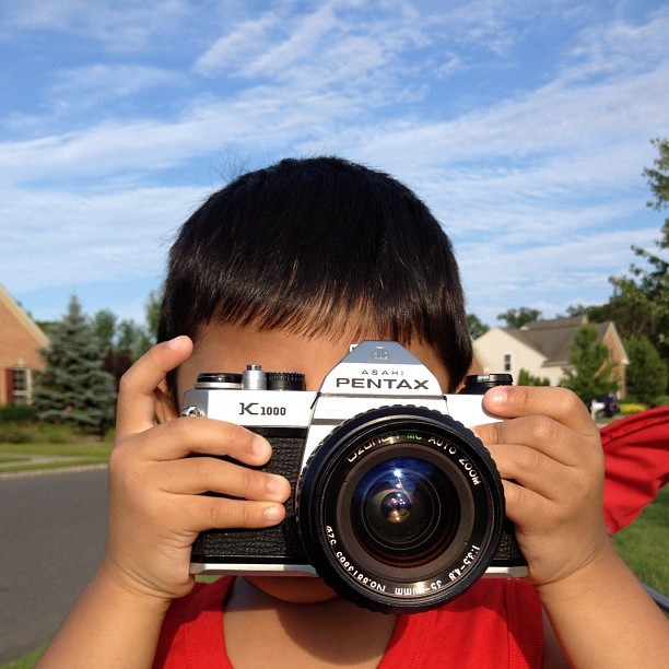 My baby cousin, the photographer :) (Taken with Instagram)