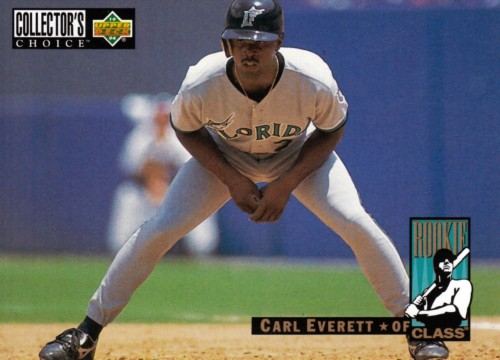 Random Baseball Card #1246: Carl Everett, outfielder, Florida Marlins, 1994, Upper Deck.
