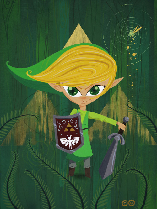 "thecarlosramos:  Link Circa 1973 18"" x 24"" cel vinyl on wood by: me"