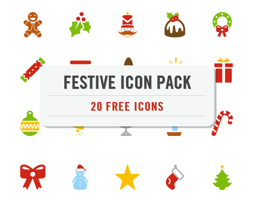(Freebie: Festive Christmas Icon Pack (20 .EPS Icons) | Smashing Magazineから)