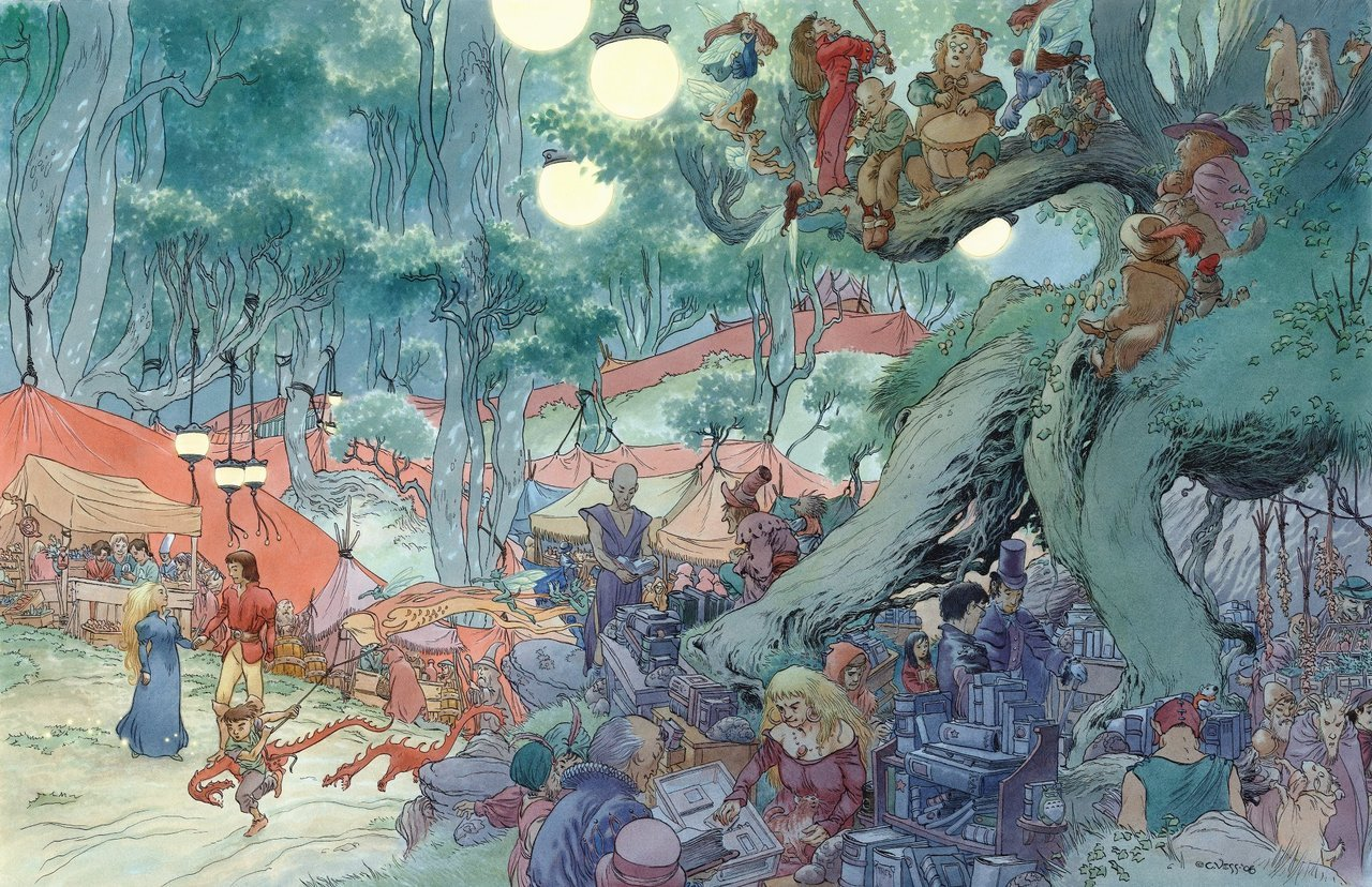 wilwheaton:  neil-gaiman:  Charles Vess really is a magician…  I am so happy I live in a world where things like this are created, and I am so proud to be part of the species that creates them.  This inspires me.