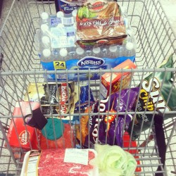 If Sara didn't help me shop this is what my cart would look like lol  (Taken with Instagram)