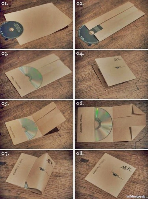 theplanetofsound: How to make a CD cover from a single A4 paper And of course you can decorate it if you want. Or you can decide to print something on it and then turn it into a cover. via