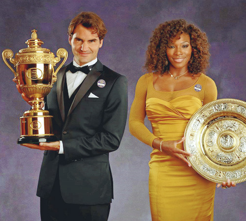 The 2012 Wimbledon Champions!  I dont get tired seeing theses pics! ^^