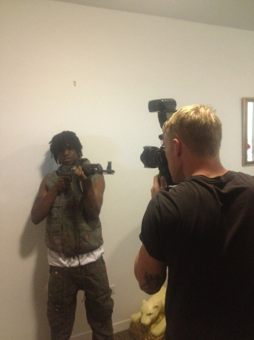ryannolenlowry:  Working for Daniel today. Shooting Chief Keef…… or is he shooting us?  whoops