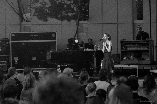 "Fiona Apple. I underexposed nearly the entire roll. I'm not as good at ""Sunny 16"" as I thought. The show was great, though.  Leica M3 