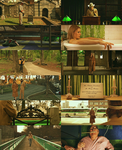 The Royal Tenenbaums + Green (requested by anonymous)