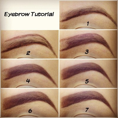 "professional-princess:  1) Outline the bottom with eyebrow pencil. 2) Outline the top. 3) Fill in leaving a little bit blank. 4) Using an angled brush fill in with brown eyeshadow. 5) Remove excess of product on your brush and brushing upwards gently fill in the blank spot for a ""natural look"" 6) Using a concealer brush clean the edges with a little bit of concealer. 7) Blend in the concealer and you're done! (Taken with Instagram)"
