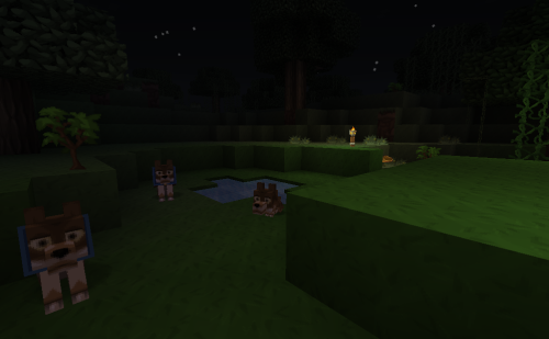 Puppies! :D Also, made my own house away from spawn~ - NekoNoms
