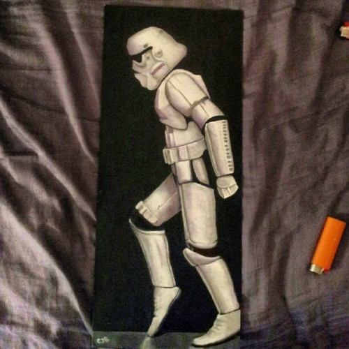 My last painting. #Starwars #Art #painting #stormtrooper (Taken with Instagram)