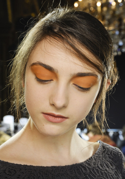 Backstage at Dries Van Noten FW12