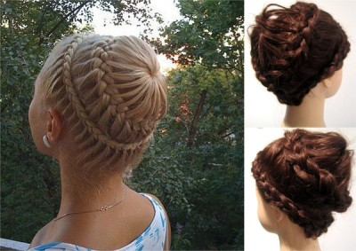 beautylish:  Niamh M. creates an awesome never-ending braided bun!