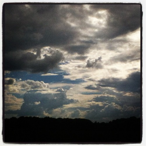 The clouds were beautiful today before the rain came #shoals  (Taken with Instagram)