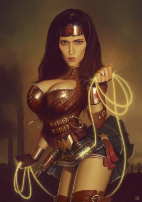 bluedogeyes:  Steampunk Wonder Woman by Serge Birault